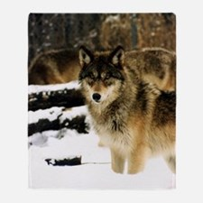 Wolves in The Snow Throw Blanket
