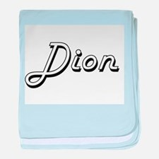 Dion surname classic design baby blanket