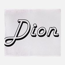 Dion surname classic design Throw Blanket