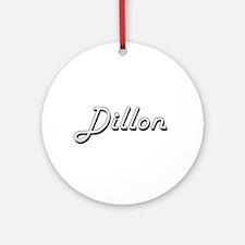 Dillon surname classic design Ornament (Round)