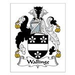 Wallinge Family Crest Small Poster