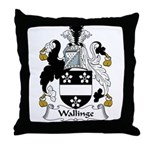 Wallinge Family Crest Throw Pillow