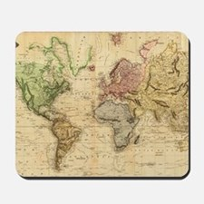 Vintage Map of The World (1831)  Mousepad