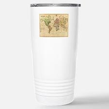 Vintage Map of The Worl Travel Mug
