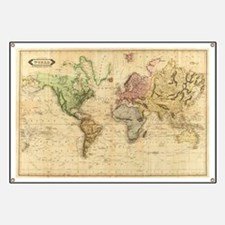 Vintage Map of The World (1831)  Banner