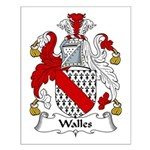 Walles Family Crest Small Poster