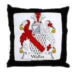 Walles Family Crest Throw Pillow