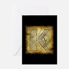 Celtic Letter K Greeting Card