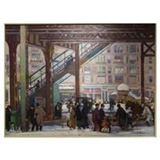 Elevated Columbus Avenue - Gifford Beal Poster