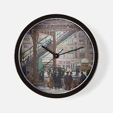 Elevated Columbus Avenue - Gifford Beal Wall Clock