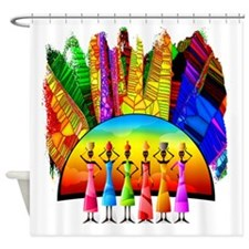 African American Women Shower Curtain