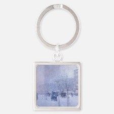 Late Afternoon New York Winter - C Square Keychain