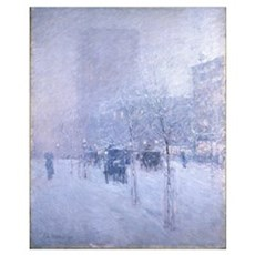 Late Afternoon New York Winter - Childe Hassam Canvas Art