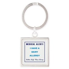 DAIRY ALLERGY Square Keychain