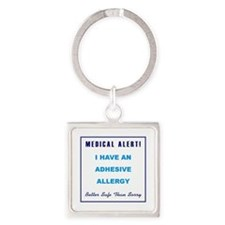 ADHESIVE ALLERGY Square Keychain