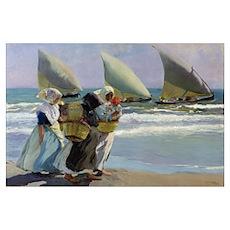 The Three Sails - Joaquin Sorolla Poster