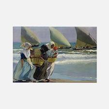 The Three Sails - Joaquin Sorolla Rectangle Magnet