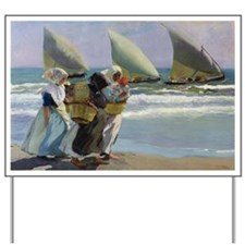 The Three Sails - Joaquin Sorolla Yard Sign