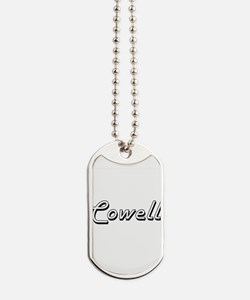 Cowell surname classic design Dog Tags