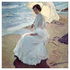 Clotilde on the Beach - Joaquín Sorolla Poster