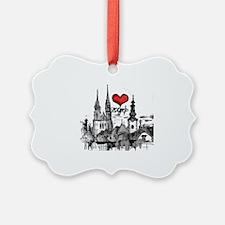 I love zagreb Ornament