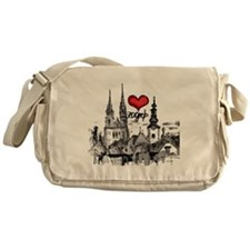 I love zagreb Messenger Bag
