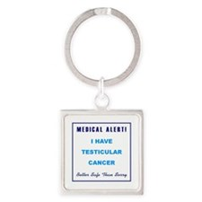 TESTICULAR CANCER Square Keychain