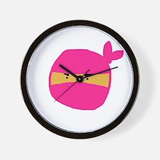 Pink Ninja Wall Clock
