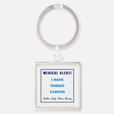 THROAT CANCER Square Keychain