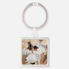 Under The Awning, On The Beach at  Square Keychain