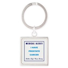 PROSTATE CANCER Square Keychain
