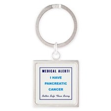 PANCREATIC CANCER Square Keychain