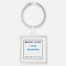 MELANOMA Square Keychain