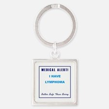 LYMPHOMA Square Keychain