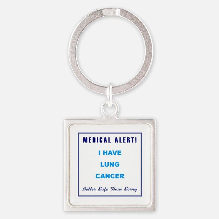 LUNG CANCER Square Keychain