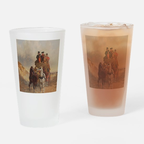 The Royal Mail Coach on the Road -  Drinking Glass