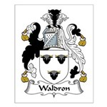 Waldron Family Crest Small Poster