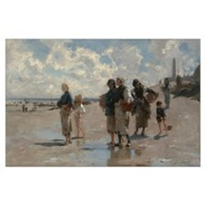 Fishing for Oysters at Cancale - John Sargent Poster