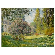 The Parc Monceau - Claude Monet Poster