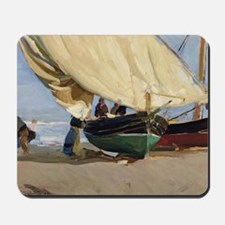 Fishermen Beached Boat, Valencia - Joaqu Mousepad