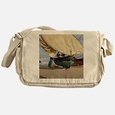 Fishermen Beached Boat, Valencia - J Messenger Bag