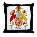 Walden Family Crest Throw Pillow
