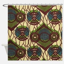 African Print Shower Curtain