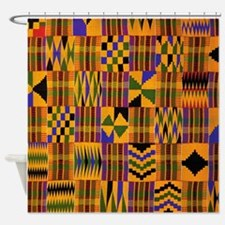 african shower curtains | african fabric shower curtain liner