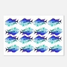 tuna pattern 2 Postcards (Package of 8)