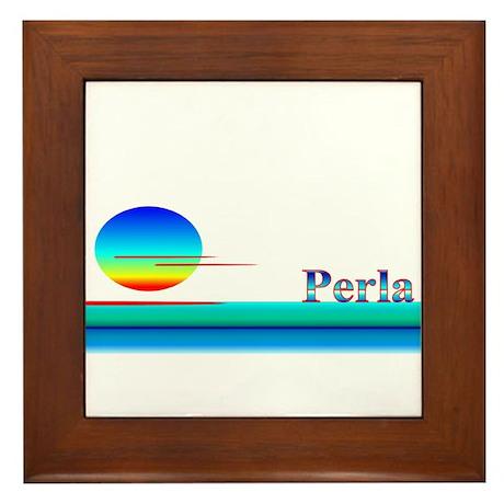 Perla Framed Tile