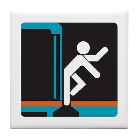 Mind the Gap, subway Madrid (ES) Tile Coaster