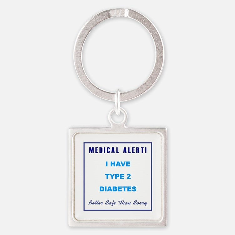 TYPE II DIABETES Square Keychain