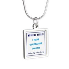 ULCERATIVE COLITIS Silver Square Necklace