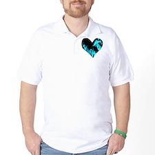 Blue Heart 'a Flame T-Shirt